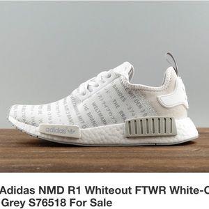 d6fd4afdf adidas Shoes - adidas NMD R1 Whiteout RARE NWB S76518 SZ 5M  6.5W